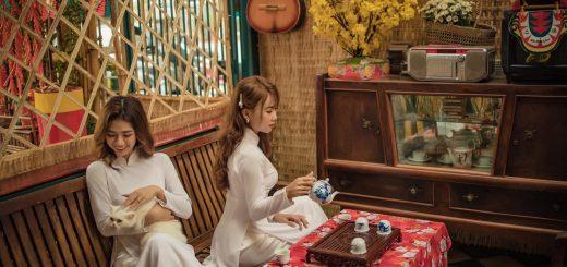 Ảnh tết tại cà phê Lang Thang An Giang