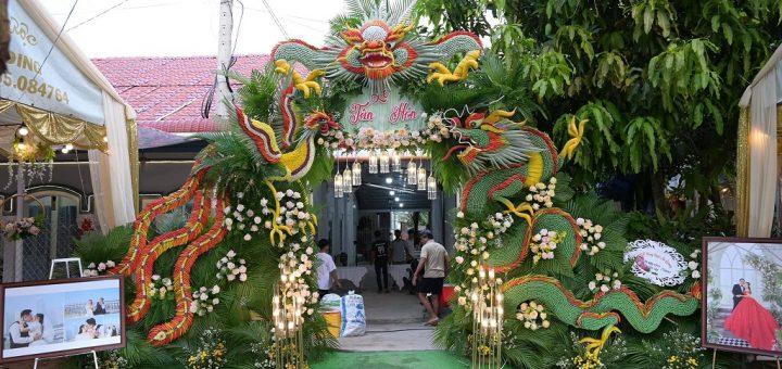 Cổng cưới rồng phụng Miền Tây