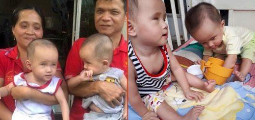 Gia đình anh Hiền (khiếm thị) - chị Huệ và 2 bé song sinh khiếm thị ở Long Xuyên