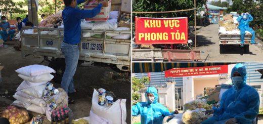 Gửi 200 phần quà đến bà con ở xã Hòa An, huyện Chợ Mới
