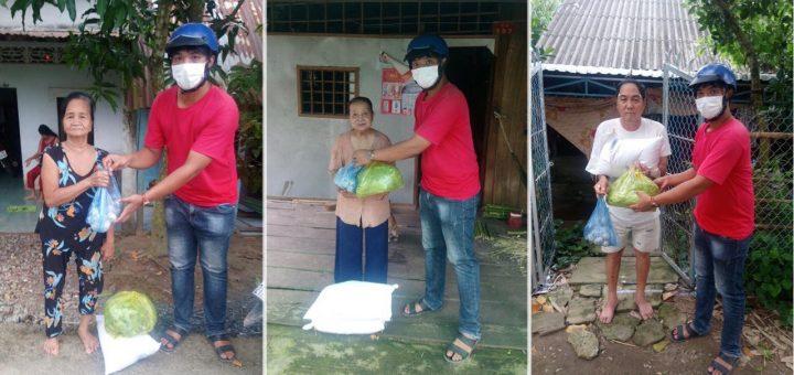 Hỗ trợ bà con nghèo ở Cồn Phước