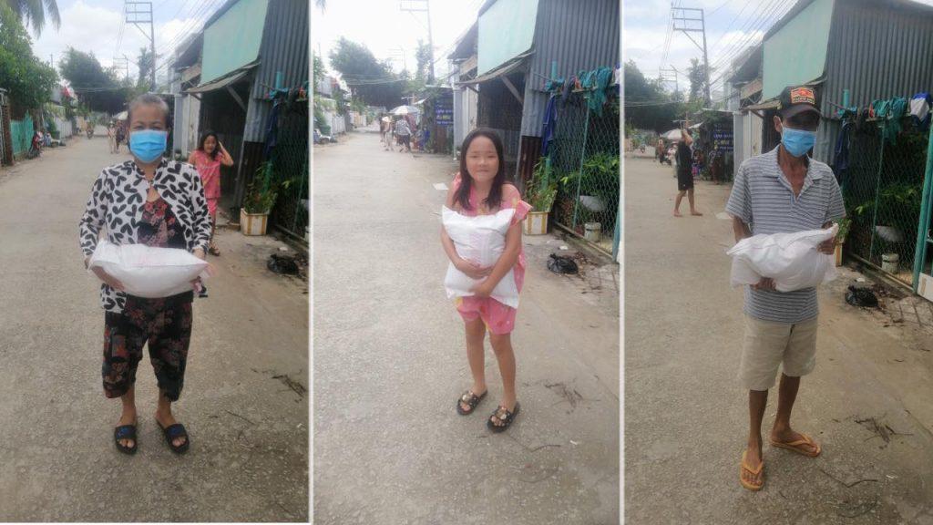 Hỗ trợ bà con ở Bình Khánh, Long Xuyên