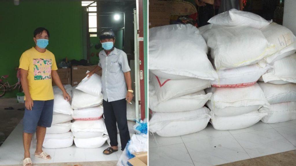 Hỗ trợ 610kg gạo cho khu vực phong tỏa xã Bình Mỹ